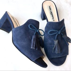 NWOT Real Suede Mules